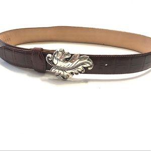Vintage Brighton Brown Leather Belt with Buckle